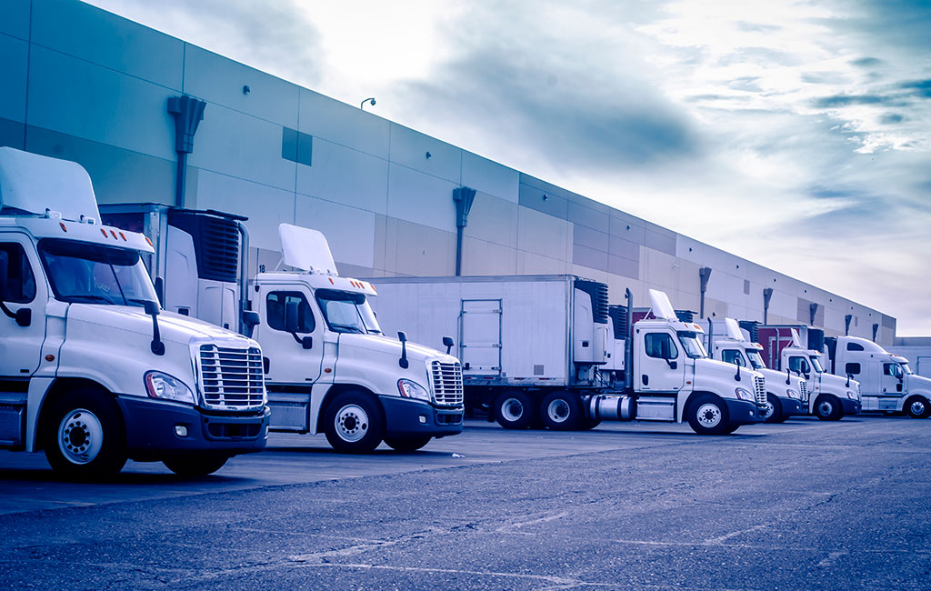 trucks at loading dock